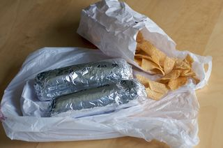 Burritos unpackaged