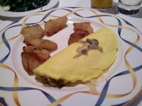 Onion and goat cheese omelet